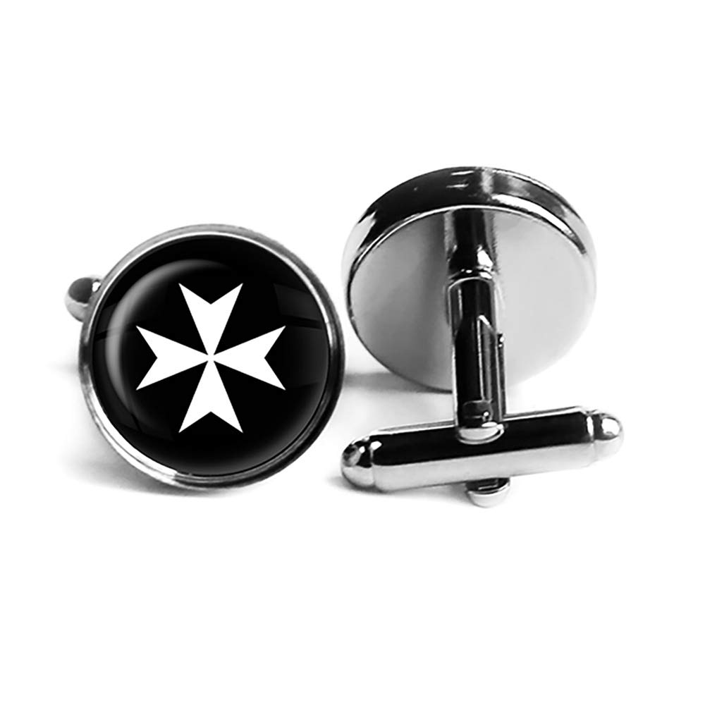 Safety and trust Knights of Malta Hospitalier Hospitaller Rhodium Plated C Silver High order