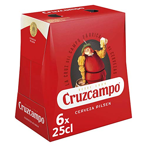 Cruzcampo Cerveza - Pack de 6 Botellas x 250 ml (Total: 1.5 L)