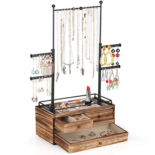 Jewelry Organizer - 2 Layer Wood...