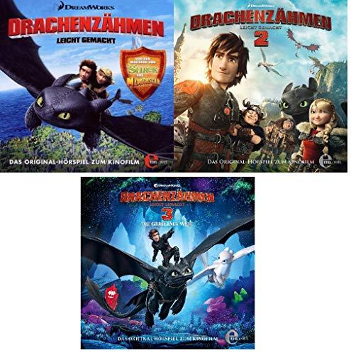 Drachenzähmen leicht gemacht - Original-Hörspiel zum Kinofilm - CD 1+2+3 im Set - Deutsche Originalware [3 CDs]