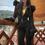 Ohwens Ski Coat Ski Jacket Women Winter Warm Snowsuit Outdoor Sports Pants Ski Suit...