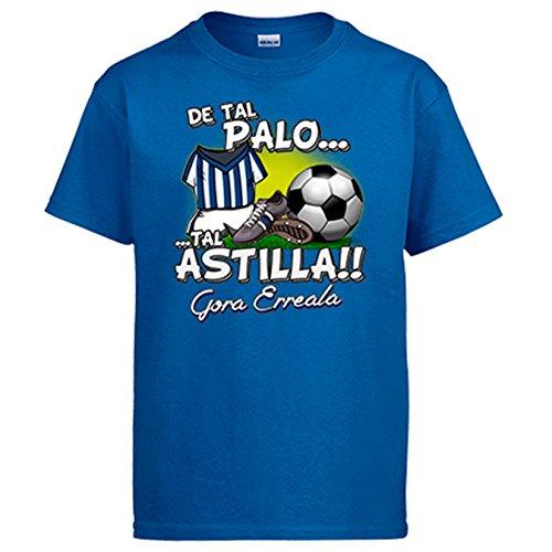 Diver Camisetas Camiseta De Tal Palo Tal Astilla de la Real para Aficionado al fútbol - Azul Royal, M