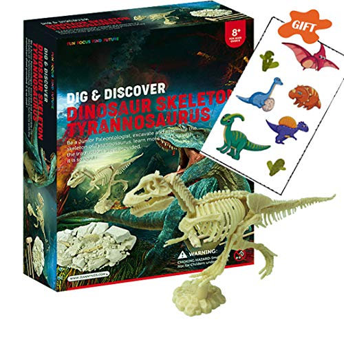 SRDX DIG IT UP Dino T-Rix Skeleton .Best Science STEM Learning Kids Activity,Gift and Party Favors for Kids.Funny Dinosaur Digging Toy for Archaeology Sccience.