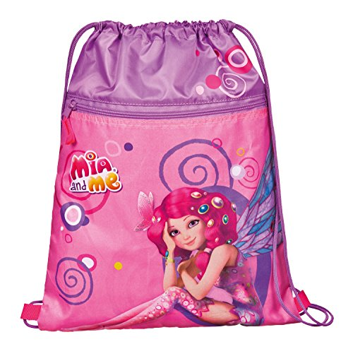 Undercover - Sacchetto porta scarpe da bambina con motivo Mia and Me, circa 41 x 32 cm, 6 l, colore rosa