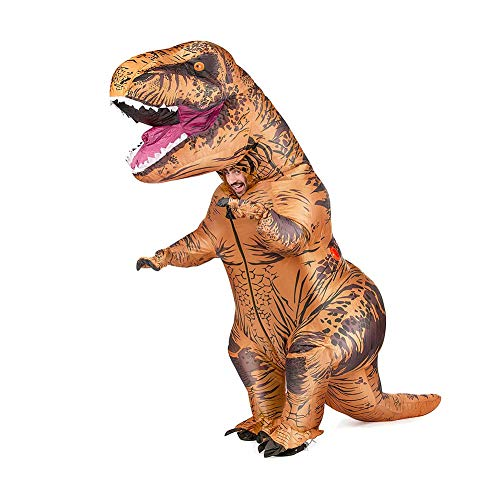 GXZOCK Disfraz hinchable de tiranosaurio para adultos, carnaval, fiesta, dinosaurio, para hombres y mujeres (adultos)