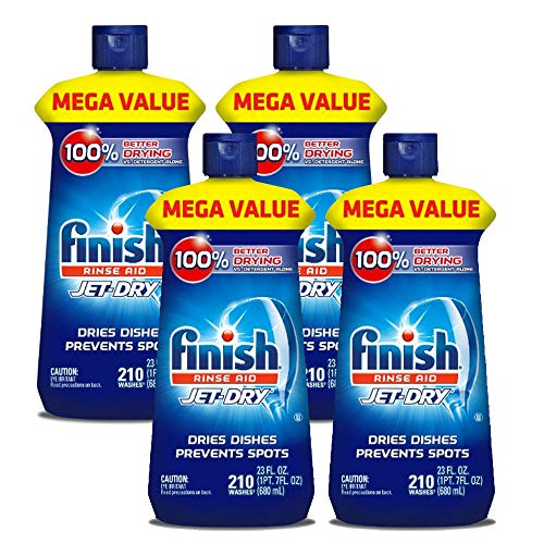 Finish Jet-Dry Rinse Aid, Dishwasher Rinse Agent & Drying Agent 23 oz (4 Pack)
