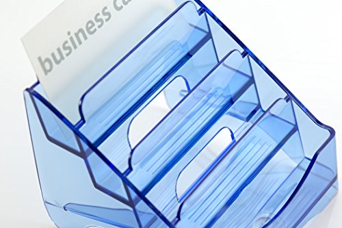 OfficemateOIC Glacier Business Card Holder, 4 Tier, Transparent Blue (23212) Photo #4