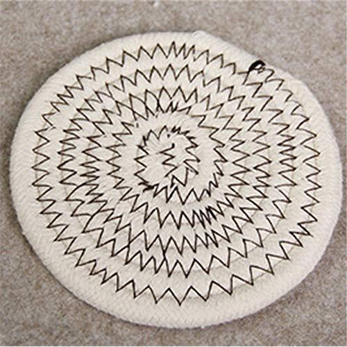 GUOCAO Coaster Table Mat Isolierung Schüssel Pad weicher handgefertigte ovale runder Entwurf Baumwolle Antiverbrühschutz Platzdeckchen Beleg Küchenzubehör Matte (Color : 1, Size : Round)