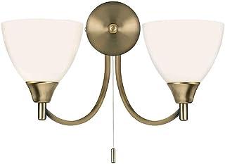 Endon Lighting Applique murale 2 chandeliers finition antique
