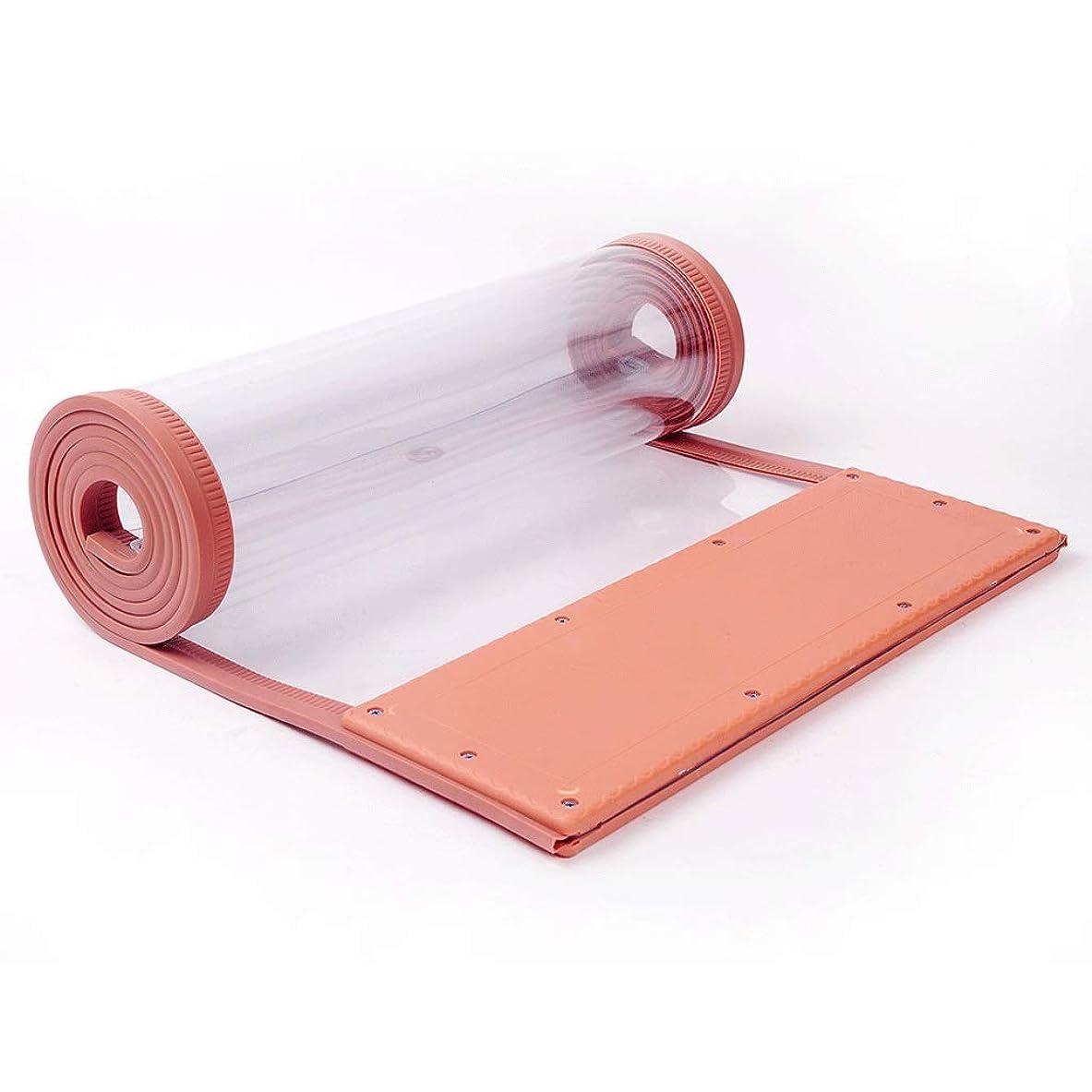 部分的にイデオロギー町パーティションカーテン - フロントガラスガラスポリ塩化ビニールの柔らかいカーテンマグネットエアコンアンチコールドエアカーテン (色 : Brown (2.0 mm weight), サイズ さいず : 50×235cm)
