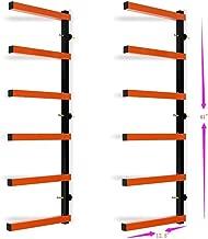 7BLACKSMITHS Six-Level 600 lb Capacity Lumber Storage Rack Wall-Mounted Both Indoor and Outdoor Use Wood Organizer Rack