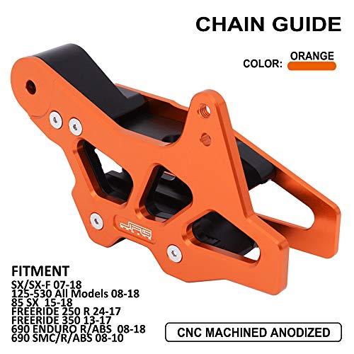 YSMOTO Guia de proteccion de Cadena CNC de Aluminio Protector para SX85 Freeride 350 K.T.M 125-530 125 250 300 450 530 Todos los Modelos EXC SX SXF SMC Enduro Husqvarna TC85 FC TC FE TE FS Dirt Bike