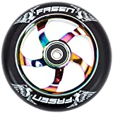 Fasen Spoked 110mm Stunt-Scooter Wheel + Abec 9 Kugellager Rainbow Neochrome