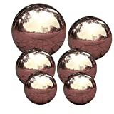 Ball anstarrt Garten Bereich-Kugel Spiegel poliert Hohle Kugel-Reflective Garten Kugel für Hausgarten-Dekorationen 6PCS
