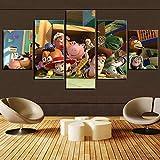 BFLOF Leinwanddrucke Hd Gedruckt 5 Stücke Toy Story