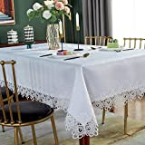 SUTAVIA Lace Tablecloth Embroidered Lace...