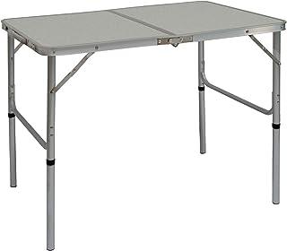comprar comparacion AMANKA Mesa para Acampada de Aluminio 90x60 cm portátil Plegable como si Fuera un maletín Altura Regulable Ideal para picn...