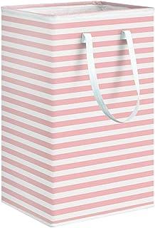 LZZB Panier à linge sale pliable de 75 L, sac de rangement étanche pour vêtements sales, poubelle de rangement avec poignées