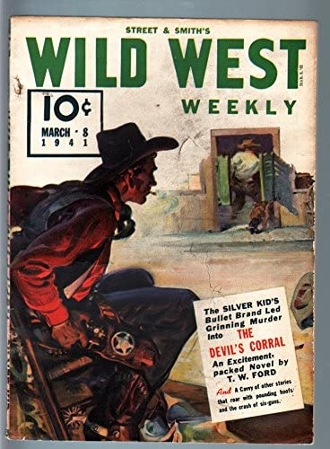 WILD WEST WEEKLY 3 8 Many popular brands FN PULP-SILVER Max 72% OFF KID 1941-WESTERN
