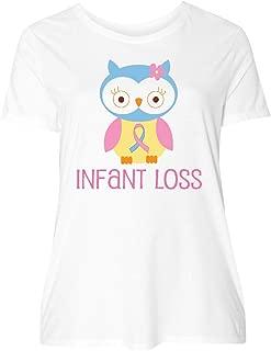 inktastic Infant Loss Awareness Owl Women's Plus Size T-Shirt