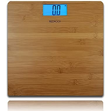 Modern Bamboo Weighing Body Scale 2016 Product 400 Pounds Wood Decor for Bath, Kitchen and Living Room