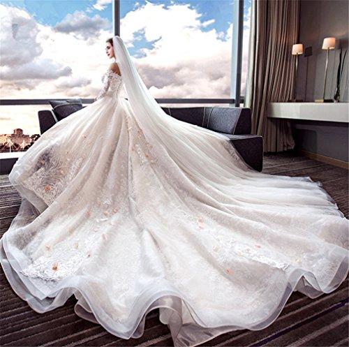 ELEGENCE-Z bruidsjurk, zonder dragers, kleur champagne, licht, feestjurk, prinses Europa en Amerika, kleur champagne, XL