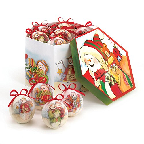 Home Locomotion Charming Snowman Ornament Set