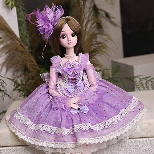 WWYYZ 60cm Fashion Princess Dress Up Doll Girl Toy Gift Set