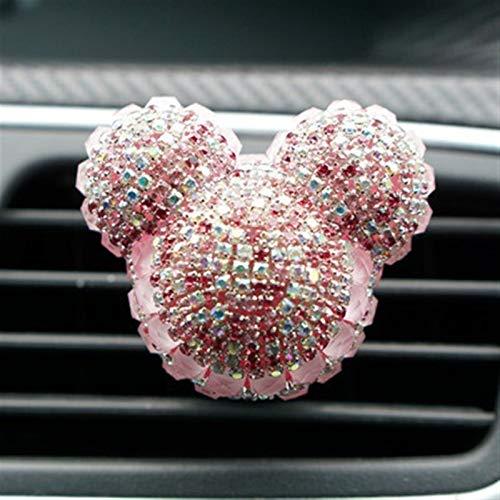 Adorno de Coches Lindo Cristal Diamante Auto Aire Acuele Vent Clip Perfume...