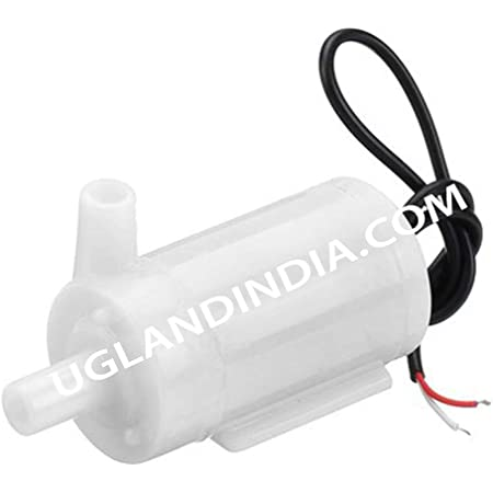 UG LAND INDIA Micro DC 3-6V Submersible Double Sided Hole Pump Mini Water Pump for Aquarium, Fish Tank and Suitable for School Projects and Models