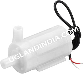 UG LAND INDIA Micro DC 3-6V Submersible Double Sided Hole Pump Mini Water Pump for Aquarium, Fish Tank and Suitable for Sc...