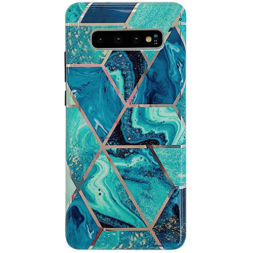 Buy Discount Herbests Compatible with Samsung Galaxy S10e Marble Case Designed Girls Women Glitter C...