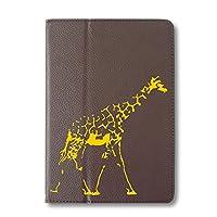 麒麟 タブレットケース iPad 手帳型 iPad mini/mini2/mini3 ブラウン きりん 動物園 アフリカ 動物 アニマル タブレットカバー タブレット ブック型 iPadmini iPadmini2 iPadmini3 アイパッド 茶 Fave フェイブ f020107-0302