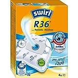 Swirl R 36 MicroPor Plus Staubsaugerbeutel für Rowenta und Moulinex Staubsauger Anti-Allergen-Filter 4 Stück