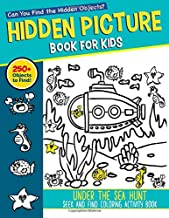 Hidden Picture Book for Kids: Under The Sea Hunt Seek And Find Coloring Activity Book: Can You Find and Spy the Hidden Tre...