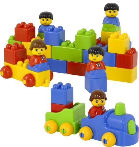Miniland 94108 Lot de 47 Briques colorées