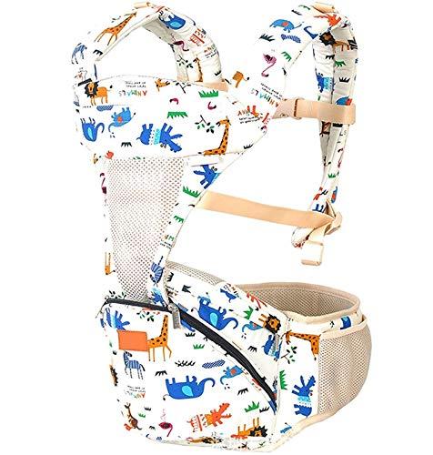 Portador de bebé ergonómico Bebé Frente trasero Portador Rápido Desgaste Bebé Multifunción Bebé Portador Kangaroo para toda la ventana de malla abierta de temporada para bebés de 7 a 45 libras, 3-36 m