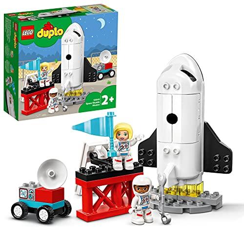 LEGO DUPLO Town Missione dello Space Shuttle, Set da Costruzione per Bambini 2 anni in su con Minifigure di Astronauti,...