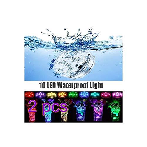 Surenhap Lumière Submersible de LED Multi-Couleur avec télécommande Étanche pour L'éclairage/Aquarium de Poisson/Mariage/Fête [Classe d'efficacité énergétique A +++]