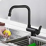 robinet cuisine rabattable mitigeur noir tout cuivre, robinet cuisine sous fenetre chaude et froide, robinet-Noir A