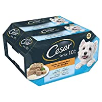 Senior range is a high quality dog food made using succulent recipes your dog will love; this senior wet dog food is specially crafted for his needs, being gentle on the stomach for easy digestion; Cesar wet dog food in jelly will have your canine fr...
