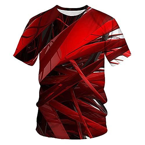 Verano más el tamaño casual suelta top deportes hombres camiseta, rosso, 4XL