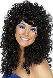 Smiffys Women's One Size Boogie Babe Wig, Black