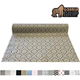 Gorilla Grip Original Smooth Top Slip-Resistant Drawer and Shelf Liner, Non Adhesive Roll, 17.5 Inch...