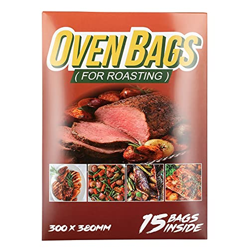 15Count Cooking Roasting Bags Suitable Size (12 x 15 Inch) Oven Bags for Chicken Meat Fish and Vegetable