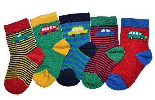 WB Socks 5 Paar Babysocken, Jungen, Auto Motiv