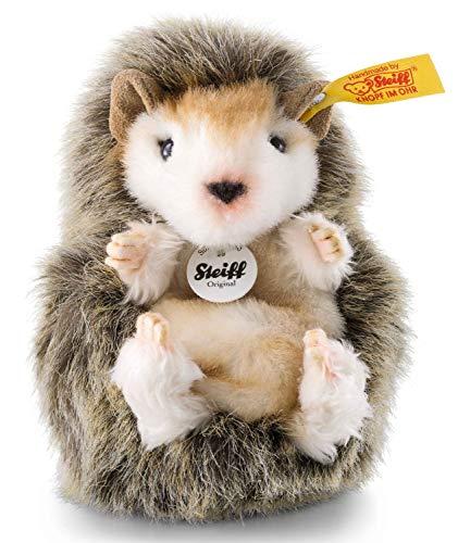 Steiff Joggi Baby-Igel - 10 cm - Igel Kuscheltier für Kinder - Stoffigel - weich & waschbar - braun meliert (070587)