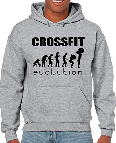 The Fan Tee Sudadera de Hombre Crossfit Deporte Gimnasio Gym Pesas 015 2XL