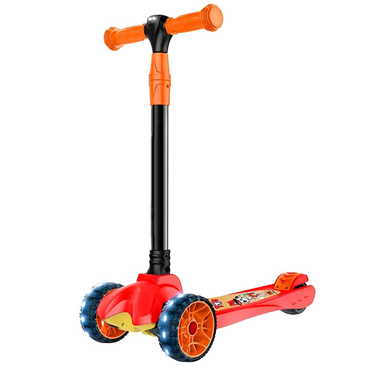 マージやむを得ない惨めなYUMEIGE キックボード キックスクーター スクーター3つの高さの調節可能な軽い子供のスクーターが付いている3つの車輪のスクーター耐荷重150 Kg 3-14子供ギフト折りたたみ可能 利用可能