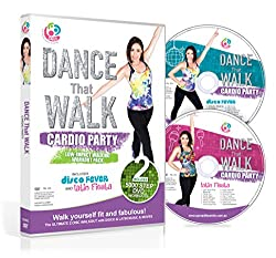 commercial DANCE THE WALK – Cardio Party – Easy Walking Workout Package with 2 DVDs Easy 5000 Step (NTSC) gina b fitness